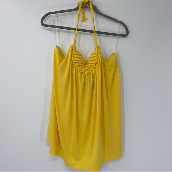 NEW Maurices Yellow Halter Tank Top 2X